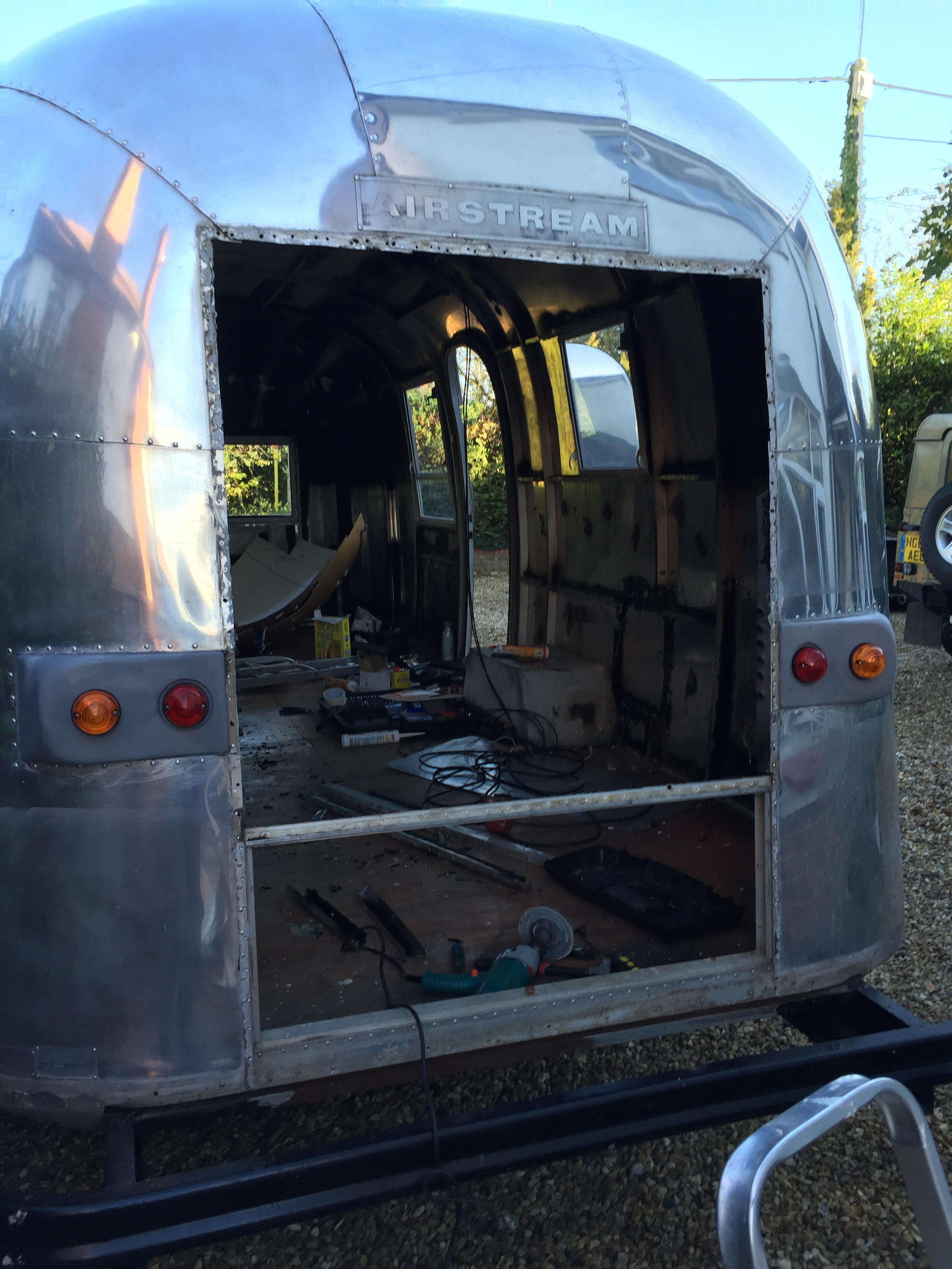 Airstream rear rebuild  | THE MAN OUTDOORS - A blog for