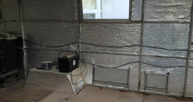 The aluminium bubble wrap spaceship
